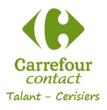 logo de Carrefour contact Talant
